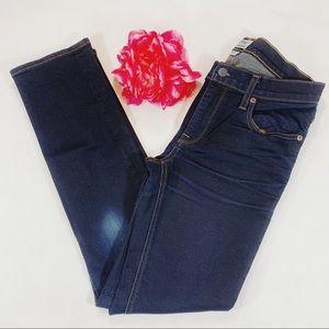 J Crew Matchstick Skinny Jeans Dark Wash Size 25